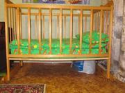 Продам кроватку детскую,  матрац (кокосовое волокно)